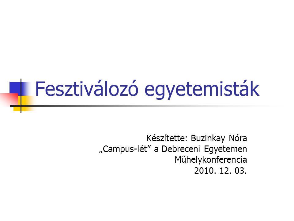 Debreceni Egyetem Tolerancia fontossága Forrás: Delta Fest Kft. (2009 N=100)