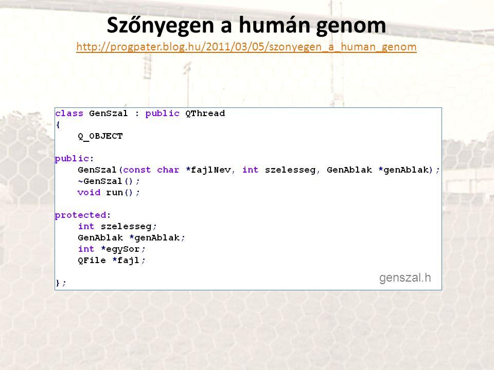 Szőnyegen a humán genom http://progpater.blog.hu/2011/03/05/szonyegen_a_human_genom genszal.h