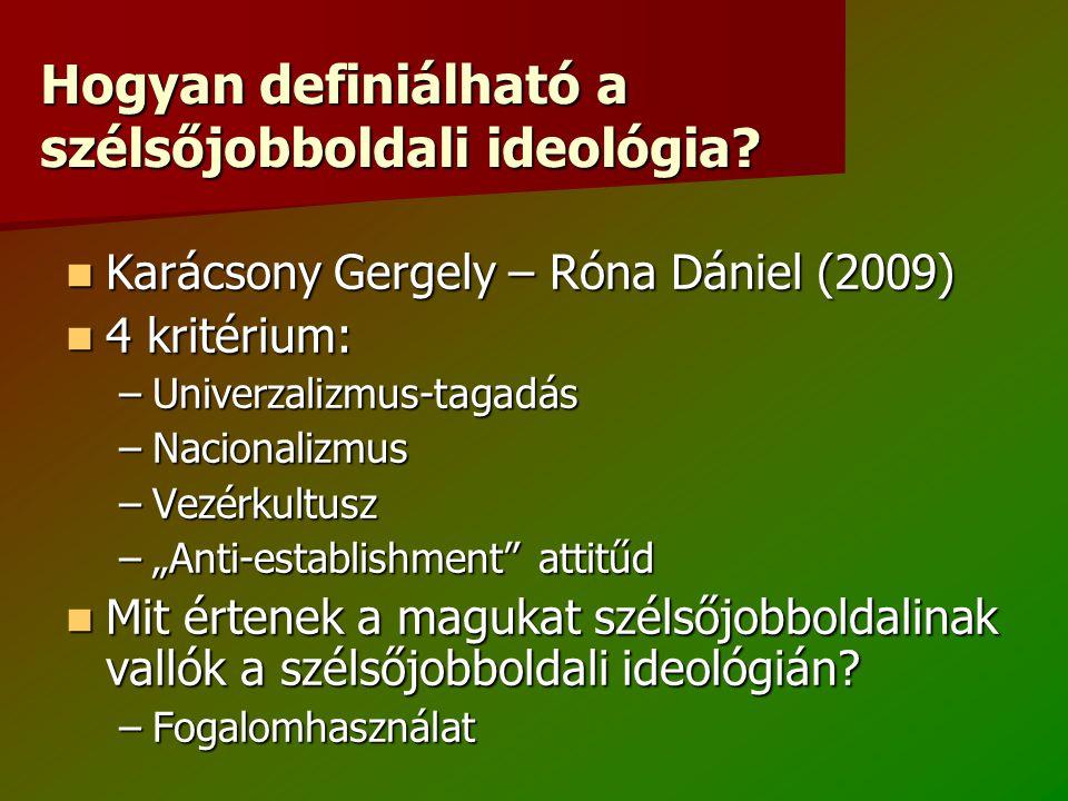 Hogyan definiálható a szélsőjobboldali ideológia.
