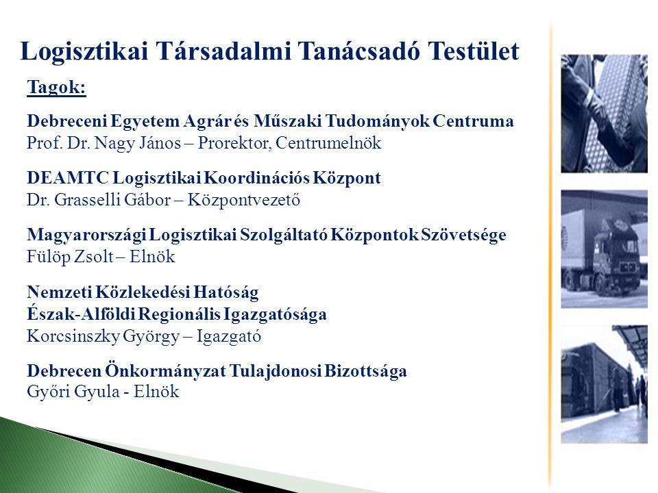 Tagok: Debreceni Egyetem Agrár és Műszaki Tudományok Centruma Prof.