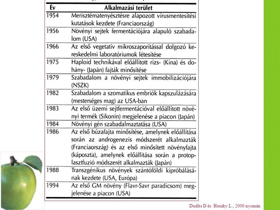 Dudits D és Heszky L., 2000 nyomán