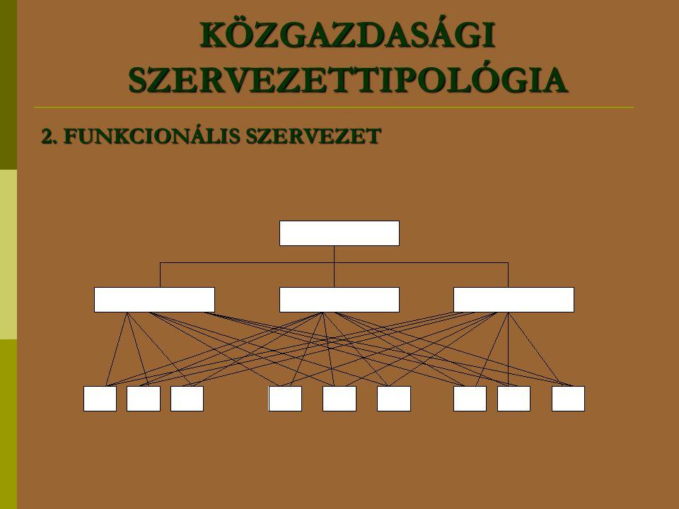 2. FUNKCIONÁLIS SZERVEZET