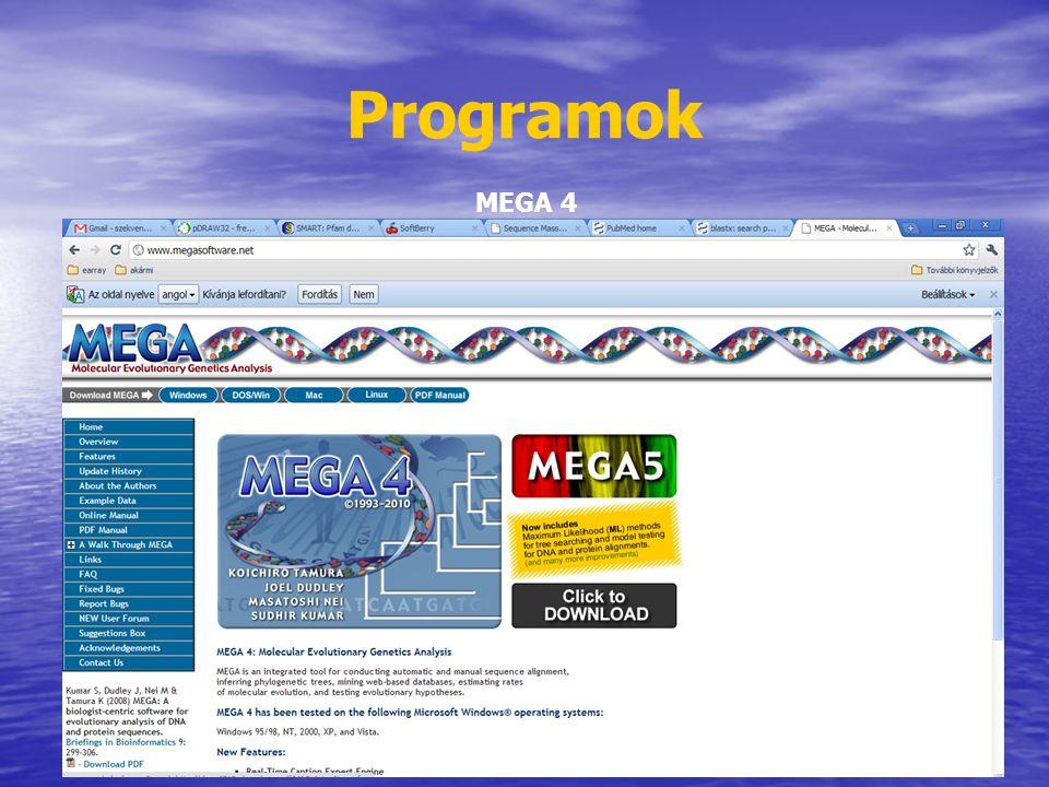 Programok MEGA 4