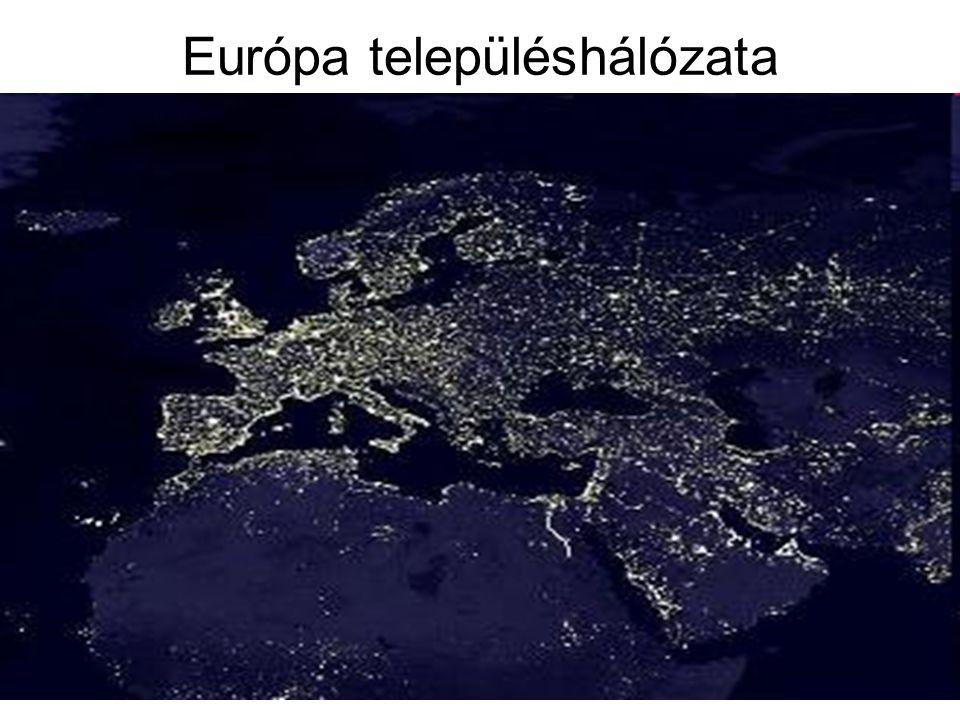 Európa településhálózata