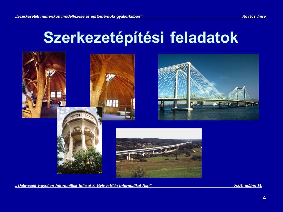 """25 """"Szerkezetek numerikus modellezése az építőmérnöki gyakorlatban Kovács Imre Véges differenciák módszere IV."""