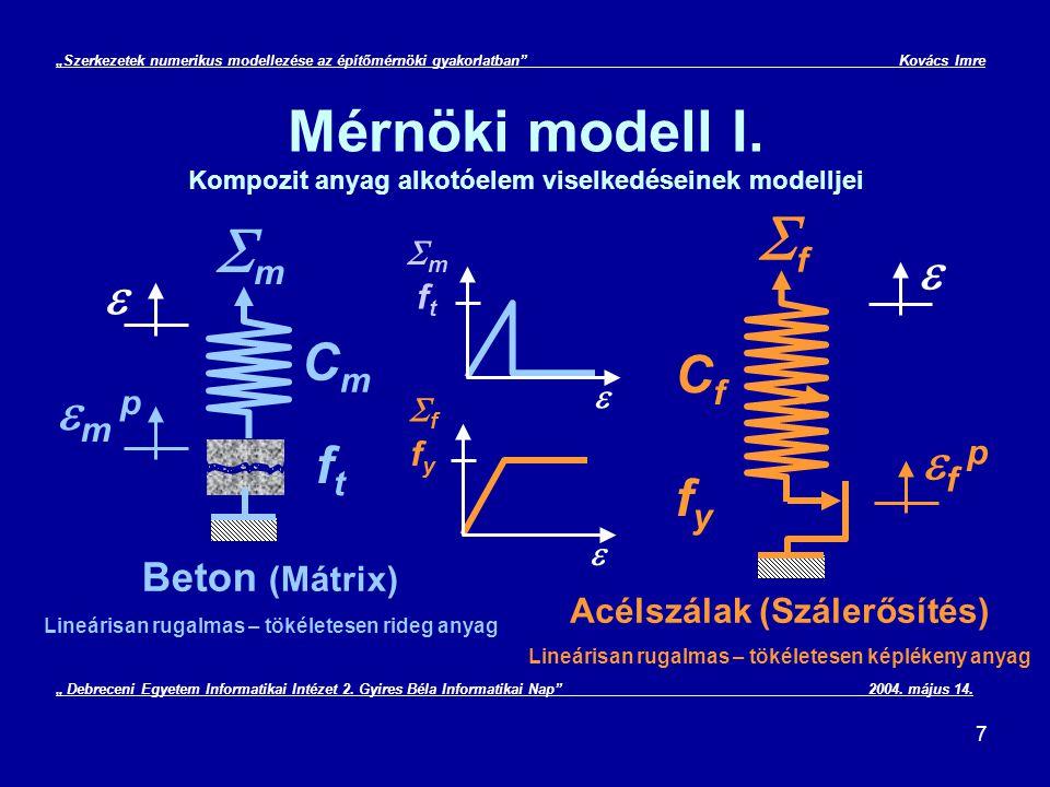 """28 """"Szerkezetek numerikus modellezése az építőmérnöki gyakorlatban Kovács Imre Végeselem módszer gyakorlati alkalmazása II."""