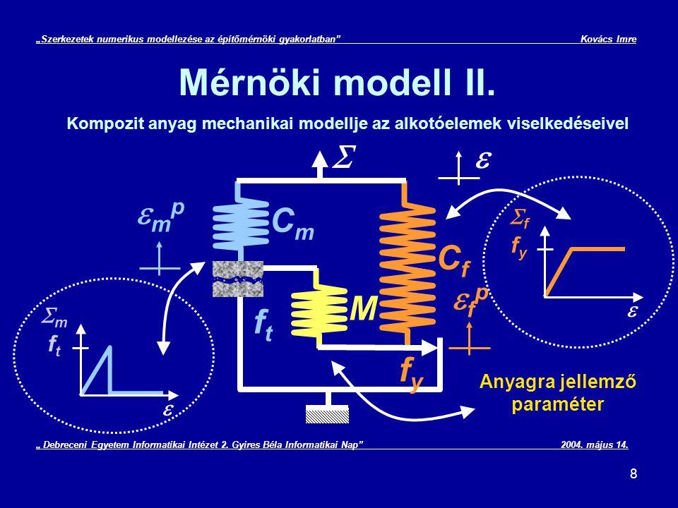 """29 """"Szerkezetek numerikus modellezése az építőmérnöki gyakorlatban Kovács Imre Végeselem módszer gyakorlati alkalmazása III."""