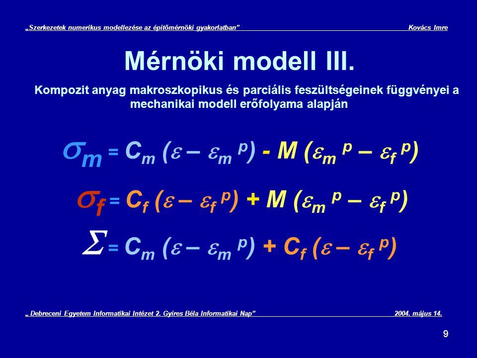 10 Mérnöki modell IV.