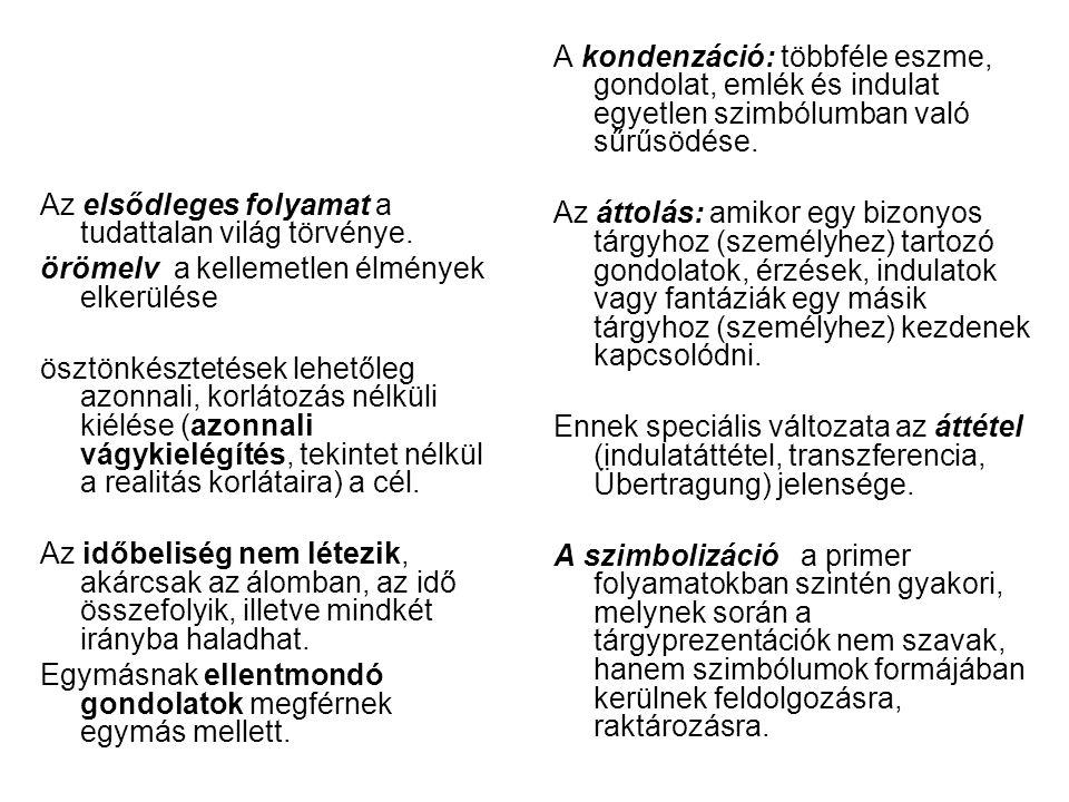 Kernberg 1.Ellentmondásos viszonyulások és viselkedések alternáló kifejezése, melyet a személy nem vesz tudomásul, tagad.