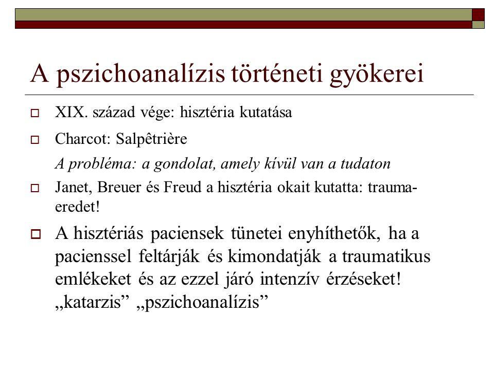 A pszichoanalízis történeti gyökerei  XIX.