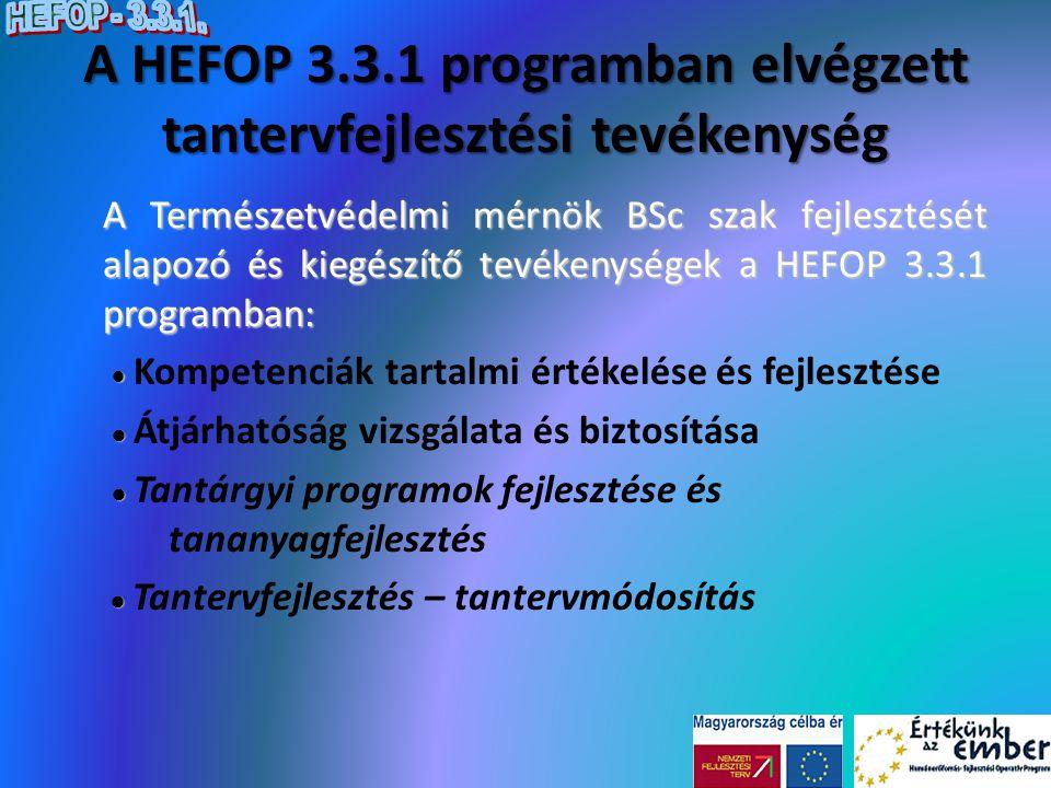 Összegzés A HEFOP 3.3.1.