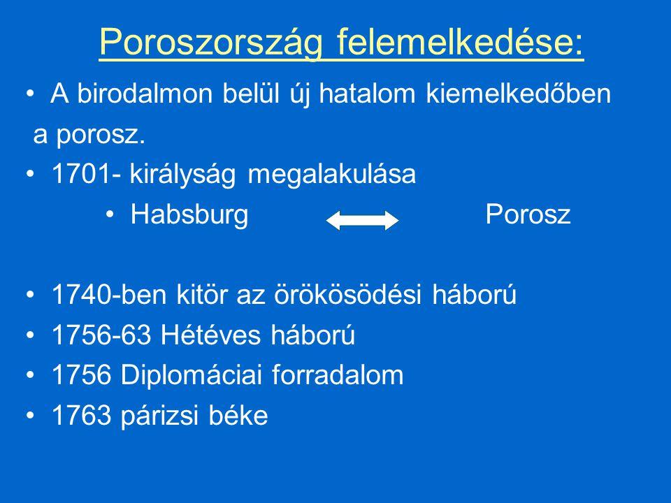 Poroszország felemelkedése: A birodalmon belül új hatalom kiemelkedőben a porosz.