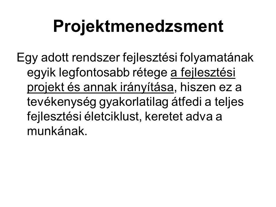 A fejlesztési projekt-terv dokumentációja, 4.A projekt kockázata 4.1.