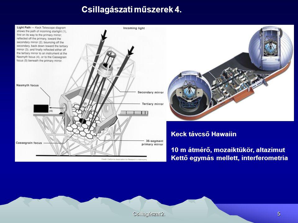 Csillagászat 2.6 Csillagászati műszerek 4.