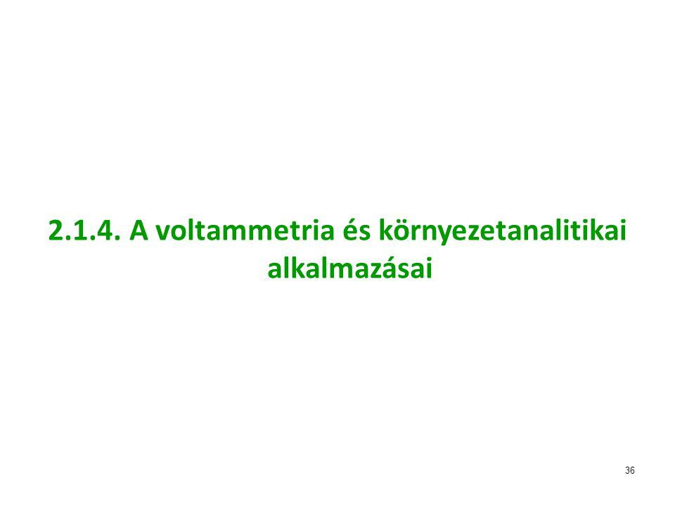 36 2.1.4. A voltammetria és környezetanalitikai alkalmazásai