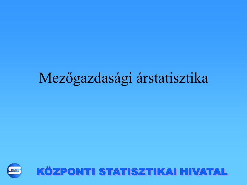 Mezőgazdasági árstatisztika