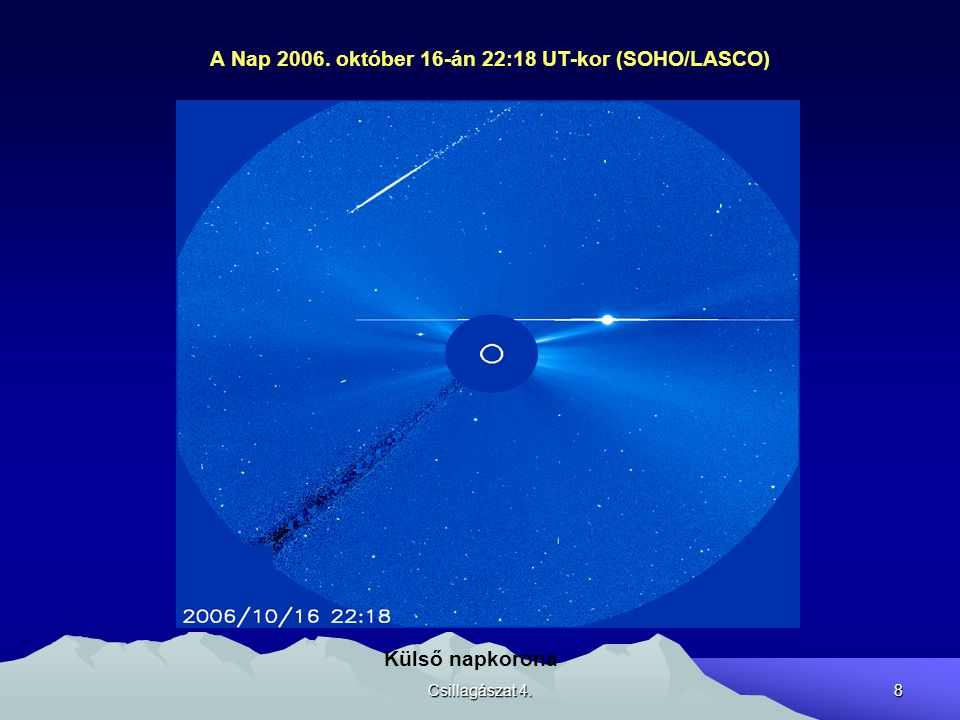 Csillagászat 4.9 Napfoltcsoportok Bipolárisak Elnyúltak Egyenlítővel majdnem párhuzamosak Széttartó mozgás