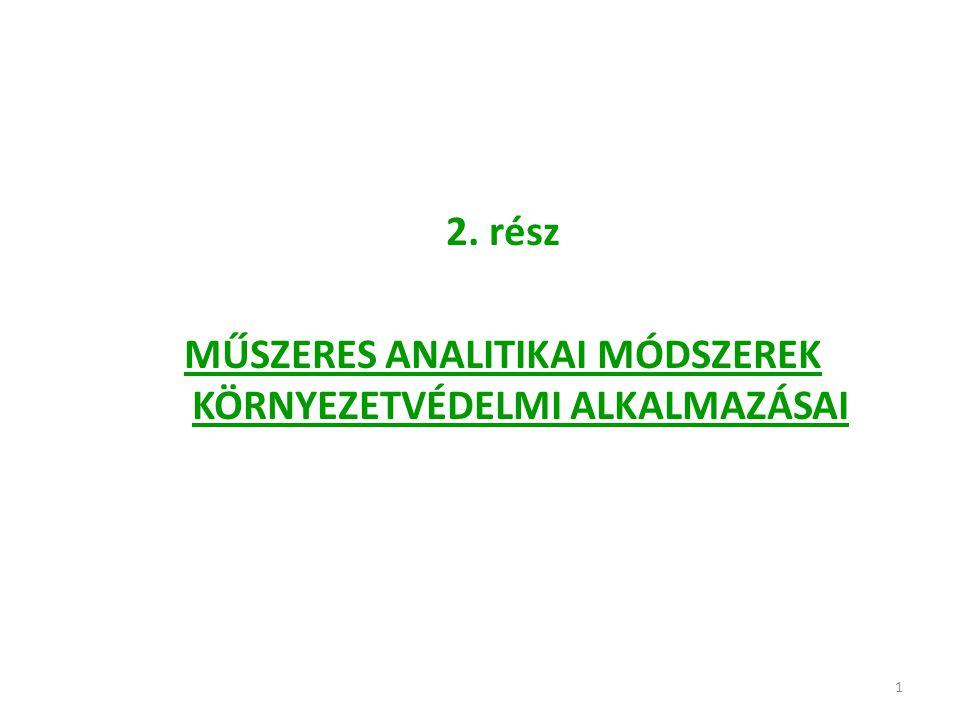 132 Példa: 2.Hasonlóképpen határozható meg a különböző vízminták Fe 2+ - és Fe 3+ -tartalma is.