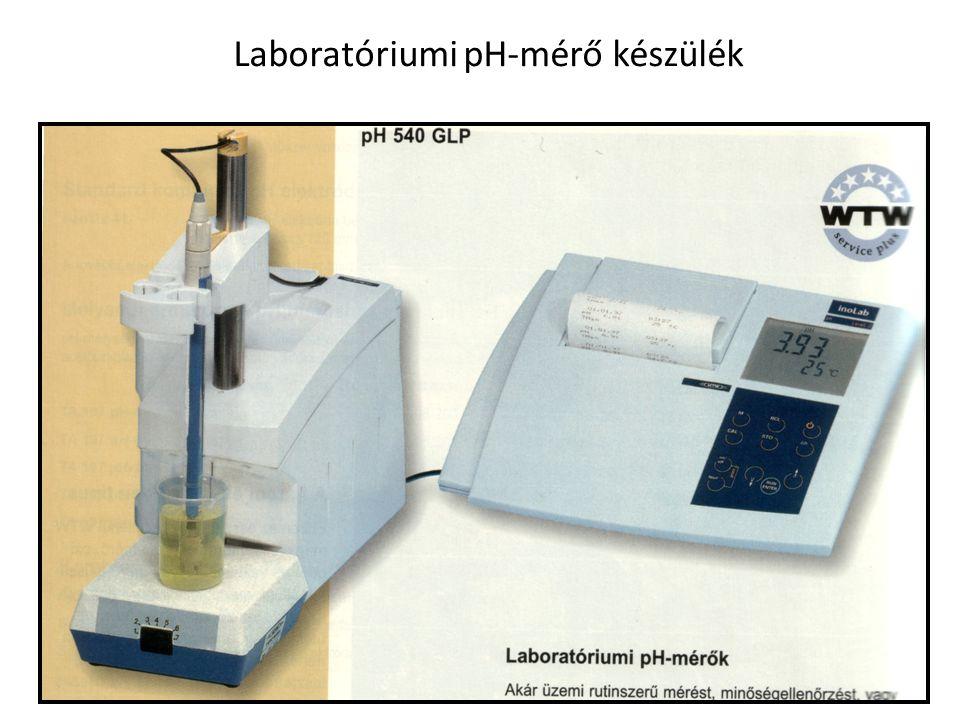 12 Laboratóriumi pH-mérő készülék