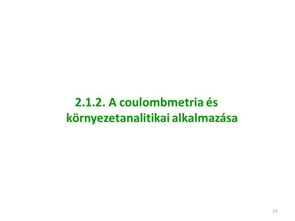 24 2.1.2. A coulombmetria és környezetanalitikai alkalmazása