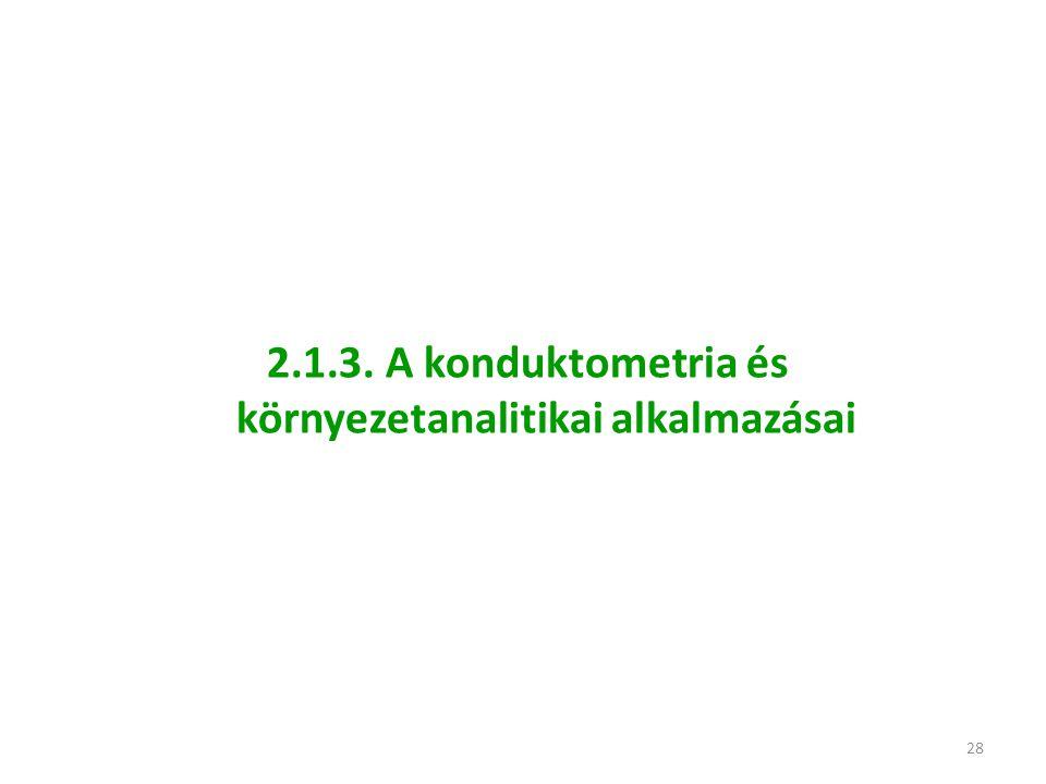 28 2.1.3. A konduktometria és környezetanalitikai alkalmazásai