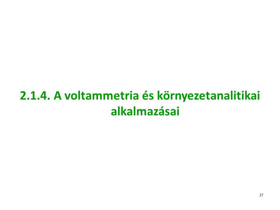 37 2.1.4. A voltammetria és környezetanalitikai alkalmazásai