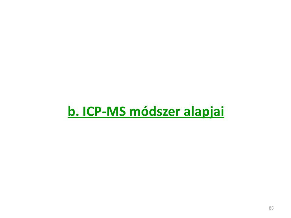 86 b. ICP-MS módszer alapjai