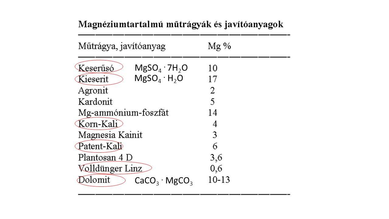 MgSO 4. 7H 2 O MgSO 4. H 2 O CaCO 3. MgCO 3