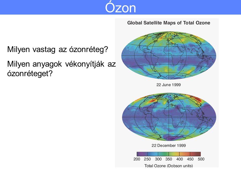 Ózon Milyen vastag az ózonréteg? Milyen anyagok vékonyítják az ózonréteget?