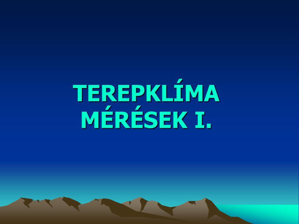 TEREPKLÍMA MÉRÉSEK I.