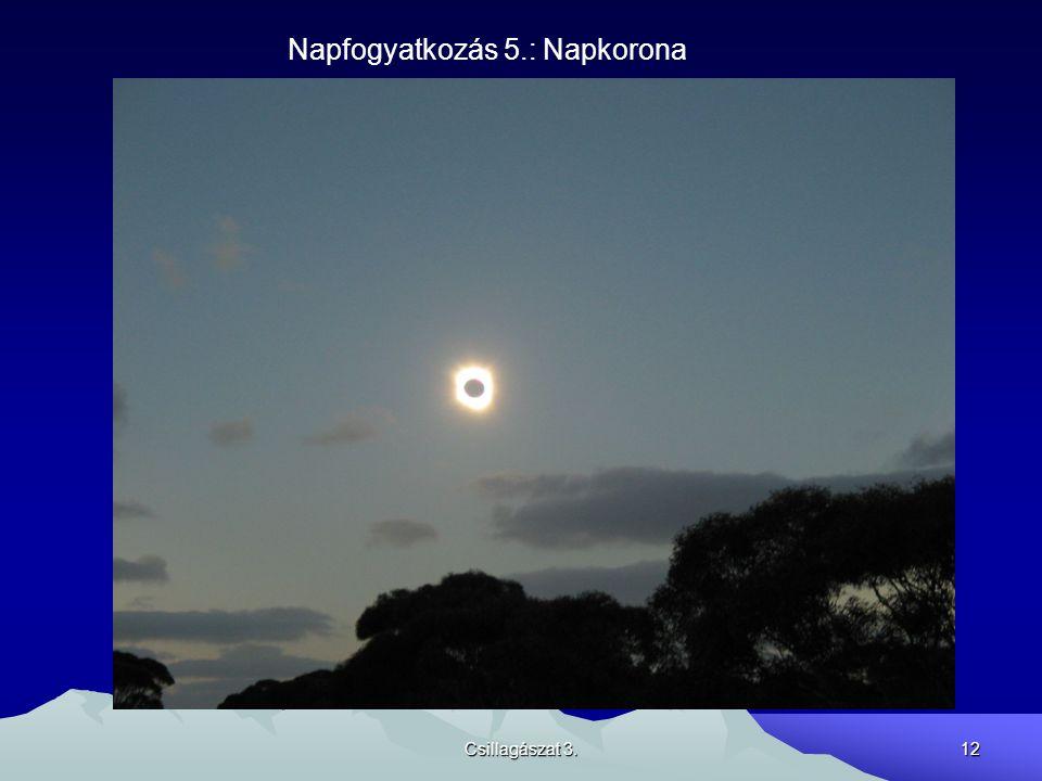 Csillagászat 3.12 Napfogyatkozás 5.: Napkorona