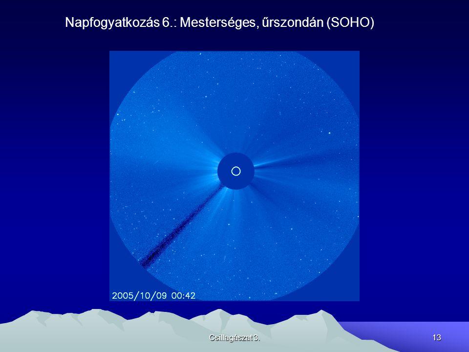 Csillagászat 3.13 Napfogyatkozás 6.: Mesterséges, űrszondán (SOHO)