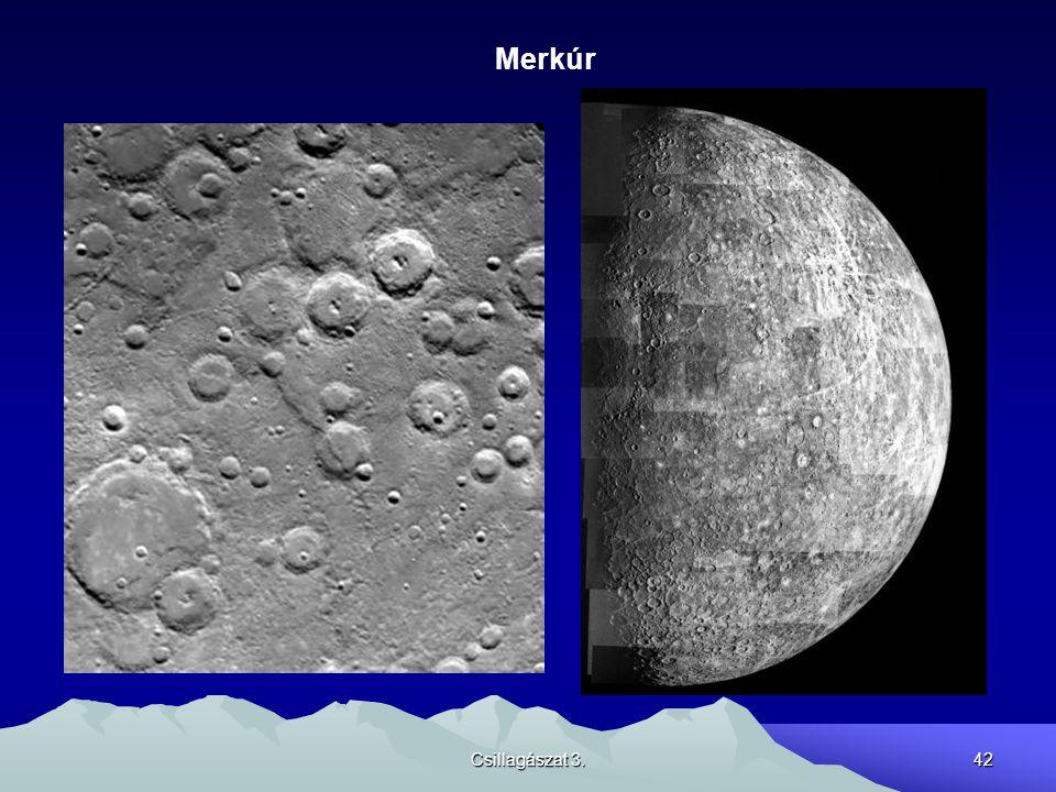 Csillagászat 3.42 Merkúr