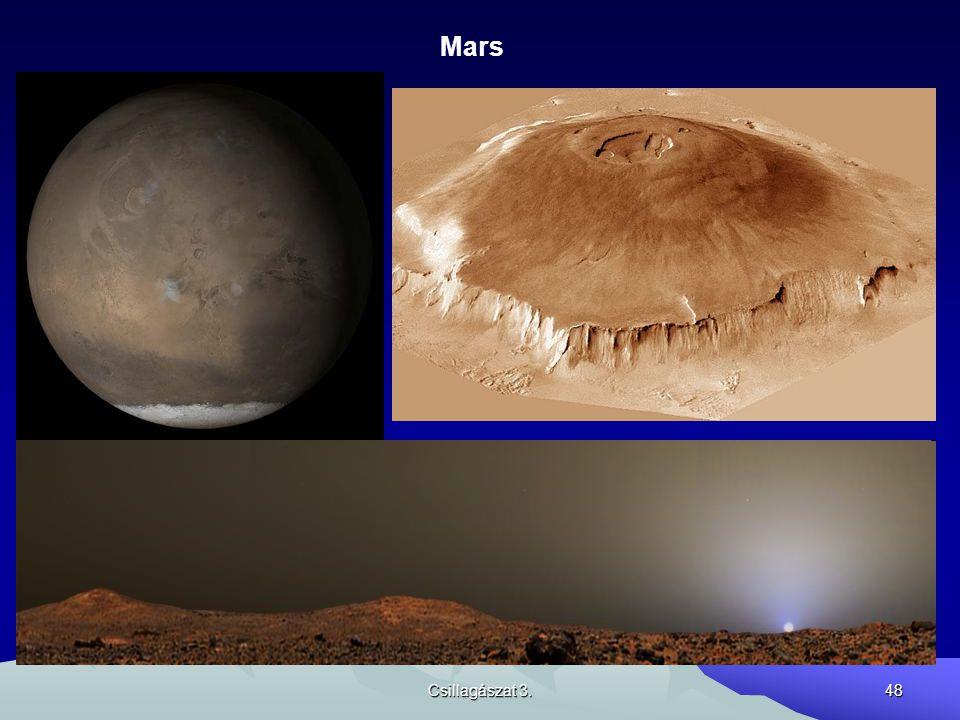 Csillagászat 3.48 Mars