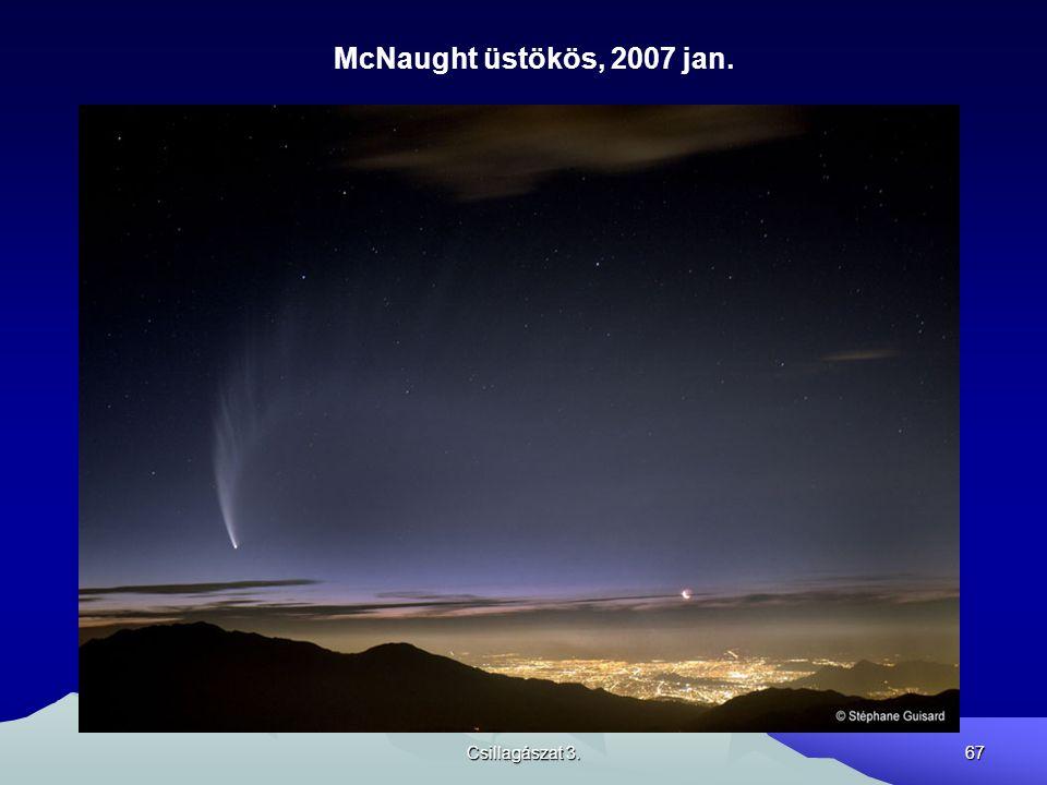 Csillagászat 3.67 McNaught üstökös, 2007 jan.
