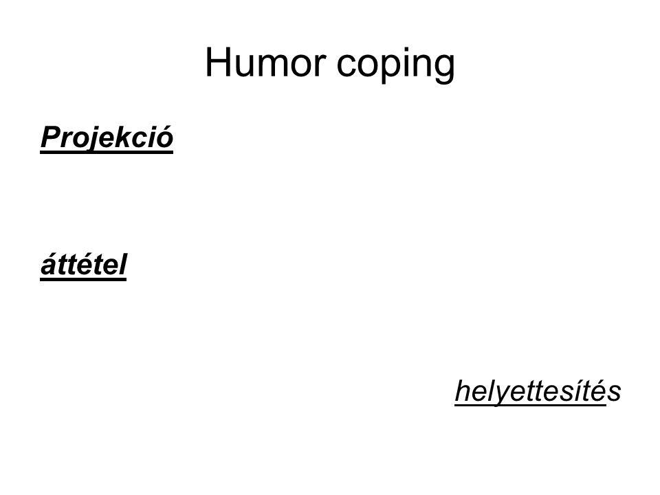 Humor coping Projekció áttétel helyettesítés