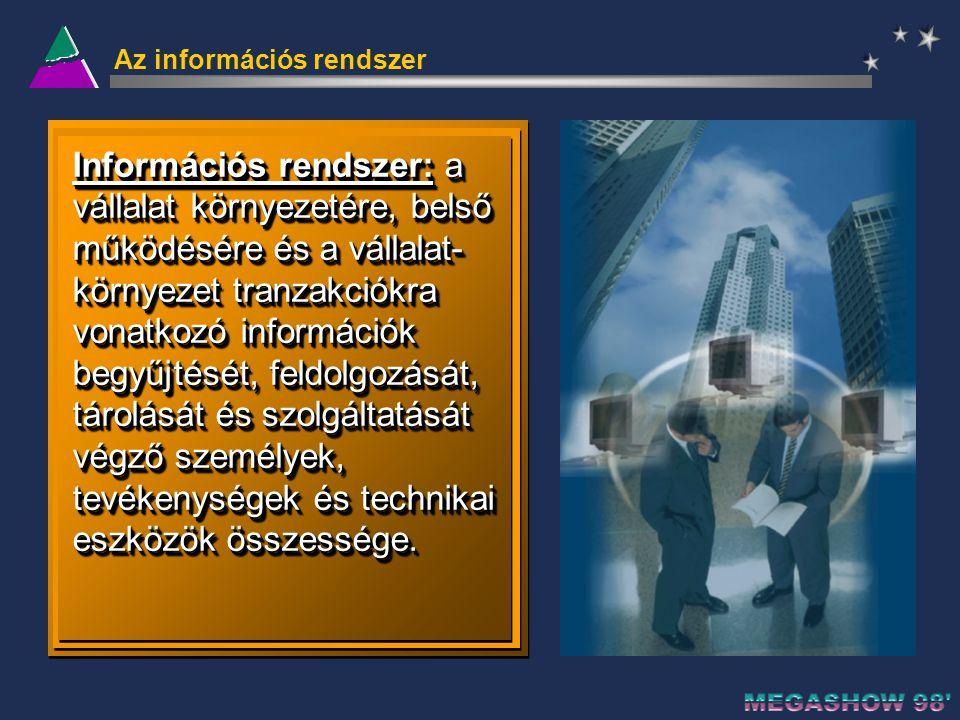 Az információs rendszer három fő összetevője