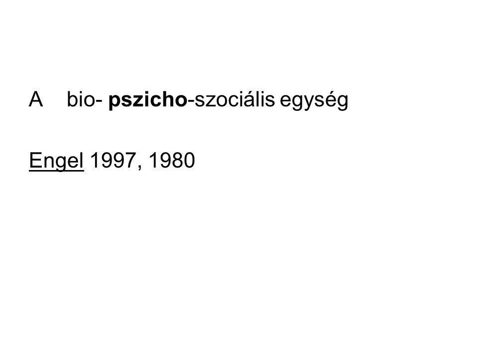 A bio- pszicho-szociális egység Engel 1997, 1980