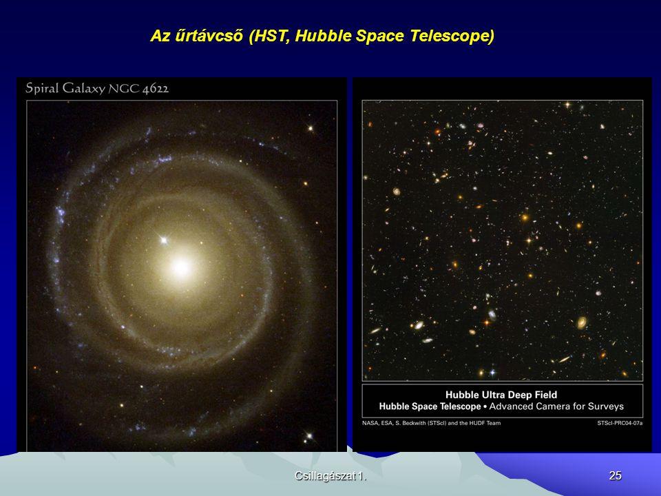 Csillagászat 1.25 Az űrtávcső (HST, Hubble Space Telescope)