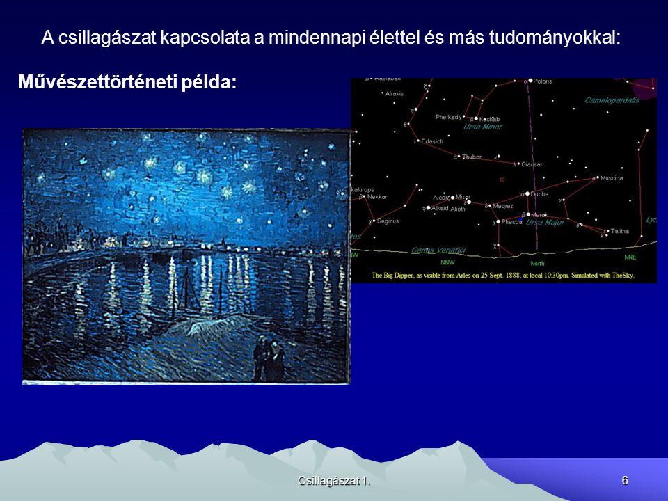 Csillagászat 1.7 A csillagászat kapcsolata a mindennapi élettel és más tudományokkal: 3 Az MKS mértékegységrendszer 1s = az 1900,0 év 12 h -hoz tartozó tropikus év 1/31 556 925,9797 része 1m = az a távolság, amelyet a fény vákuumban 1/299 792 458 s alatt tesz meg (1983.