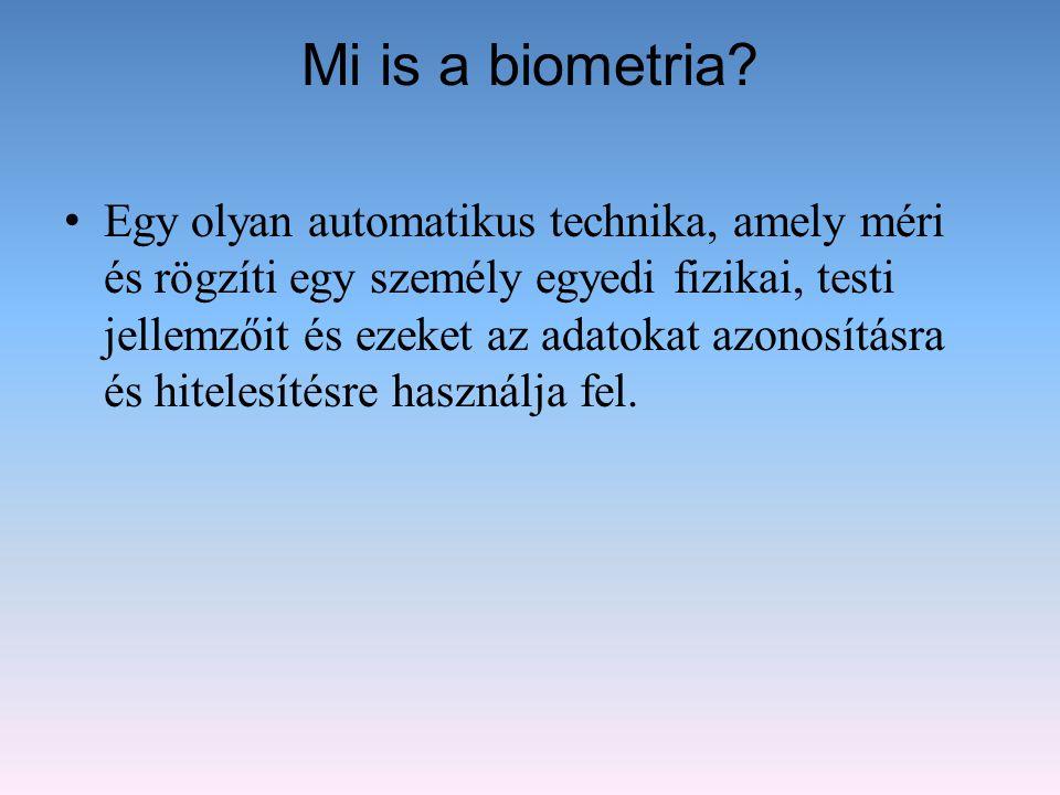 Mi is a biometria? Egy olyan automatikus technika, amely méri és rögzíti egy személy egyedi fizikai, testi jellemzőit és ezeket az adatokat azonosítás