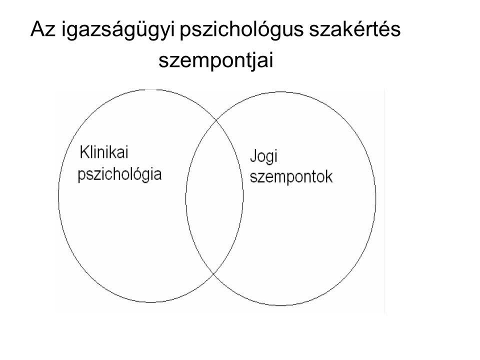 A pszichológus szakértő működésének minőségei önálló szakvélemény társszakértő konzulens