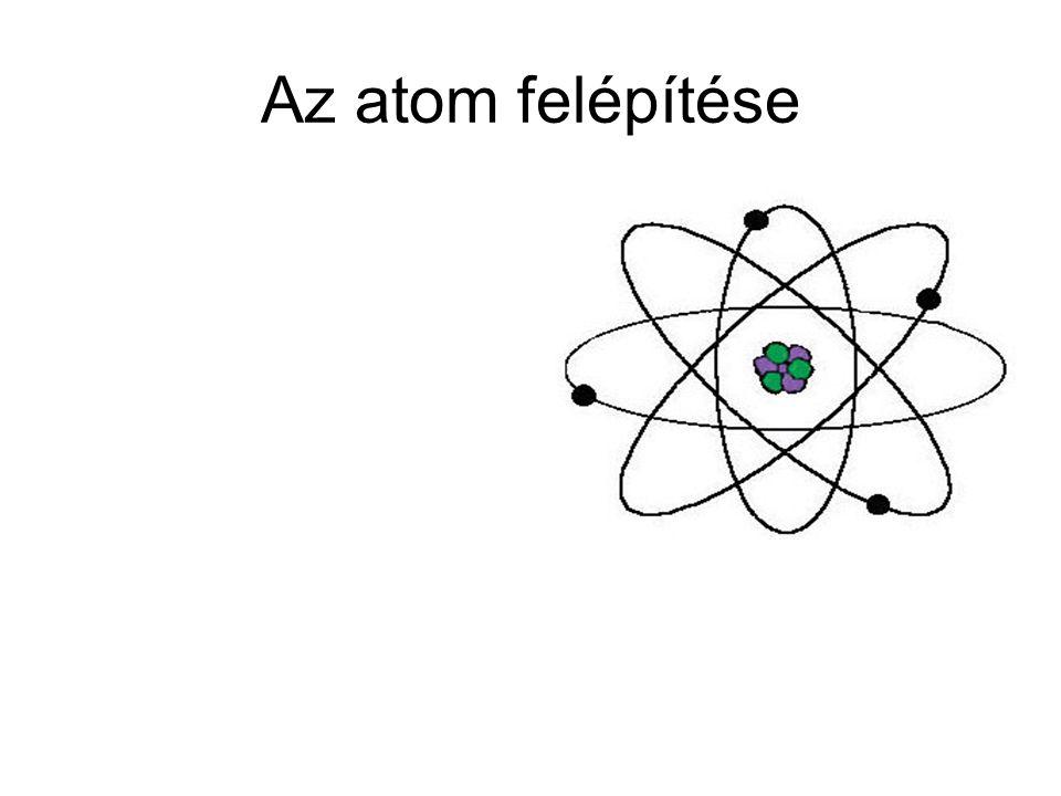 Elemi részecskeTömeg(kg)Töltés(C)Rel.TömegTöltés(e) elektron9,109*10 -31 -1,60219*10 -19 0,00055 -1 proton1,672*10 -27 +1,60219*10 -19 1,00728 +1 neutron1,674*10 -27 01,00866 0