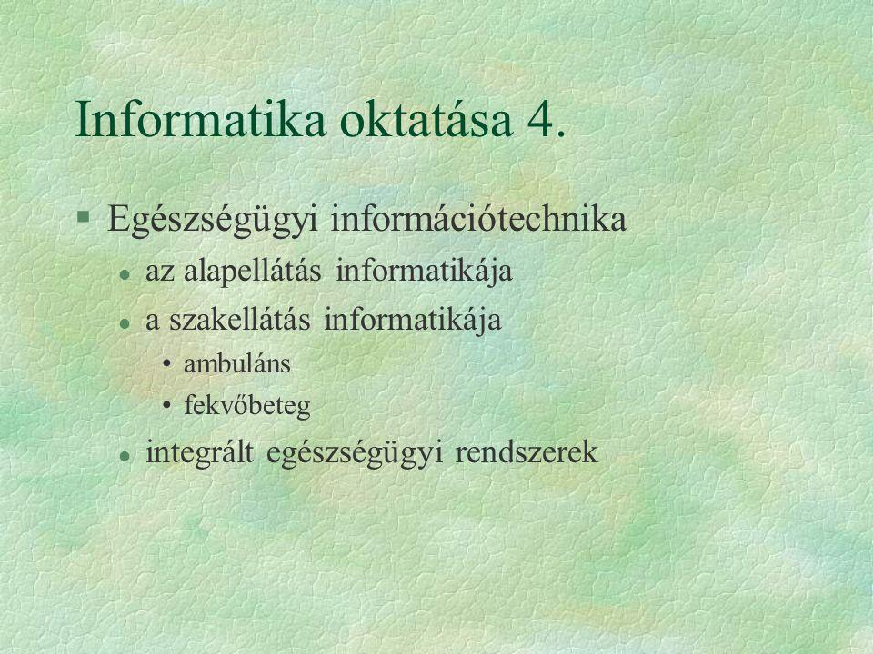 Informatika oktatása 4.