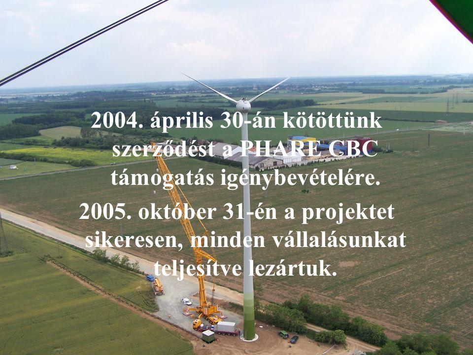 2004. április 30-án kötöttünk szerződést a PHARE CBC támogatás igénybevételére. 2005. október 31-én a projektet sikeresen, minden vállalásunkat teljes