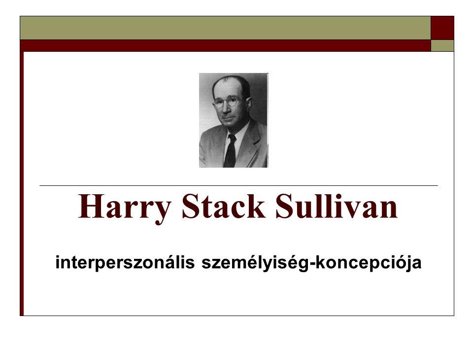 Harry Stack Sullivan interperszonális személyiség-koncepciója