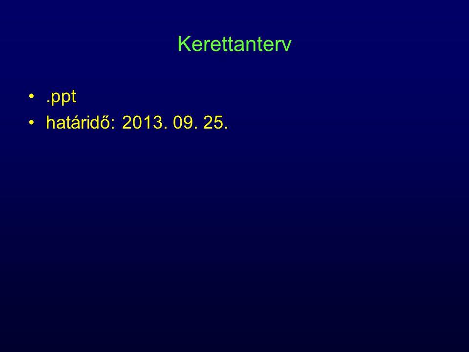 Kerettanterv.ppt határidő: 2013. 09. 25.