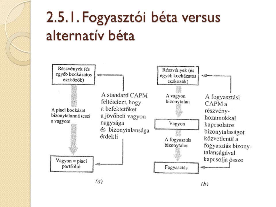 2.5.1. Fogyasztói béta versus alternatív béta