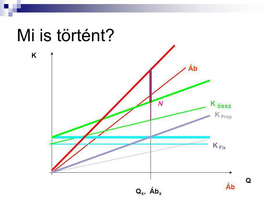 ÁKFN struktúra – példa 2 Áb: - Kp: F: - KF: N: 1000 mill Ft - 630 mill Ft 370 mill Ft - 270 mill Ft 100 mill Ft A vállalat 10 %-os béremelésre kénysze