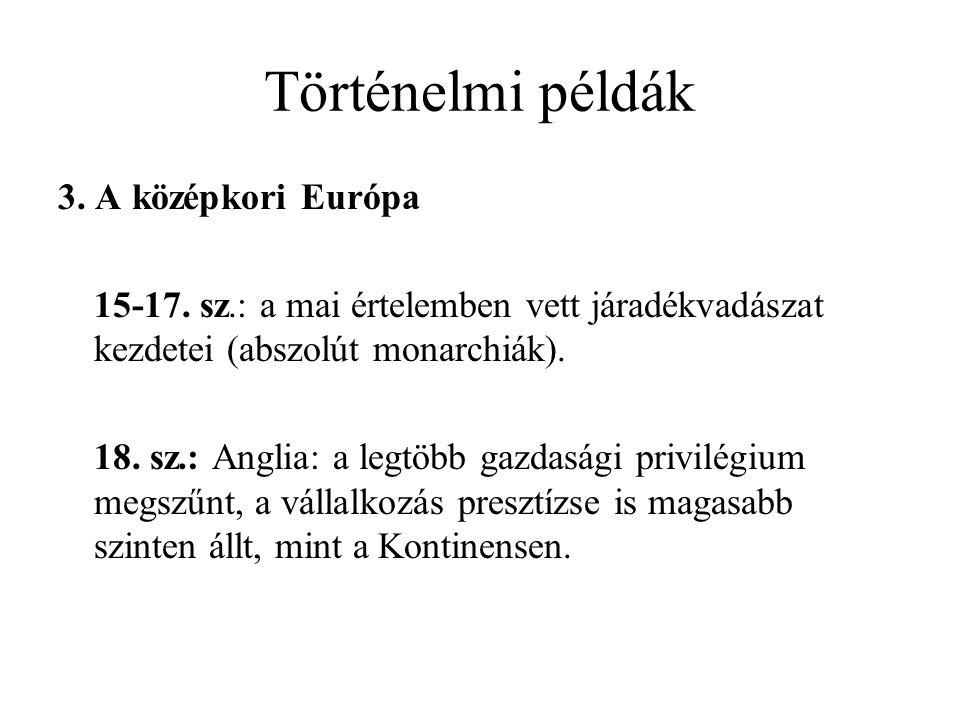 Történelmi példák 3. A középkori Európa 15-17.